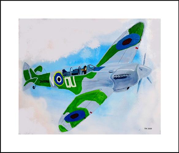 Trevor Woollard Plane Spitfire2FRamed
